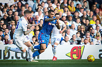 Bolton Wanderers' Josh Magennis competing with Leeds United's Pontus Jansson <br /> <br /> Photographer Andrew Kearns/CameraSport<br /> <br /> The EFL Sky Bet Championship - Leeds United v Bolton Wanderers - Saturday 23rd February 2019 - Elland Road - Leeds<br /> <br /> World Copyright © 2019 CameraSport. All rights reserved. 43 Linden Ave. Countesthorpe. Leicester. England. LE8 5PG - Tel: +44 (0) 116 277 4147 - admin@camerasport.com - www.camerasport.com
