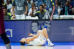 Real Madrid's player Jaycee Carroll injury during Liga Endesa 2015/2016 Finals 3rd leg match at Barclaycard Center in Madrid. June 20, 2016. (ALTERPHOTOS/BorjaB.Hojas)