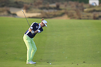 Marcel Siem (GER) plays his 2nd shot on the 16th hole during Sunday's Final Round of the 2014 BMW Masters held at Lake Malaren, Shanghai, China. 2nd November 2014.<br /> Picture: Eoin Clarke www.golffile.ie
