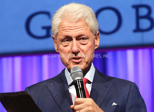 www.acepixs.com<br /> <br /> September 19 2016, New York City<br /> <br /> Bill Clinton speaking at the 10th Annual Clinton Global Citizen Awards at the Sheraton Hotel on September 19, 2016 in New York City.<br /> <br /> By Line: Nancy Rivera/ACE Pictures<br /> <br /> <br /> ACE Pictures Inc<br /> Tel: 6467670430<br /> Email: info@acepixs.com<br /> www.acepixs.com