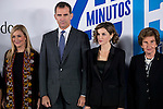 "King Felipe VI of Spain and Queen Letizia during the main event of the XV Aniversary of the ""20Minutos"" newspaper at Headquarters of the Community of Madrid, November 24, 2015<br /> (ALTERPHOTOS/BorjaB.Hojas)"