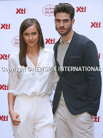 """IRINA SHAYK AND JUAN BETANCOURT.attend the launch of the new Xti shoe collection at Hospes Hotel, Madrid_10/05/2013.Mandatory Credit Photo: ©NEWSPIX INTERNATIONAL..**ALL FEES PAYABLE TO: """"NEWSPIX INTERNATIONAL""""**..IMMEDIATE CONFIRMATION OF USAGE REQUIRED:.Newspix International, 31 Chinnery Hill, Bishop's Stortford, ENGLAND CM23 3PS.Tel:+441279 324672  ; Fax: +441279656877.Mobile:  07775681153.e-mail: info@newspixinternational.co.uk"""