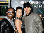 "HOLLYWOOD, CA. - April 28: Apl.de.Ap, Fergie and Taboo of Black Eyed Peas arrive at ""X-Men Origins: Wolverine"" Los Angeles Industry Screening at Grauman's Chinese Theatre on April 28, 2009 in Los Angeles, California."