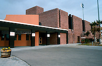 Ballparks: El Paso, TX. Cohen Stadium, 1990. Approach to ticket windows.