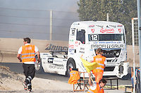 Czech driver Frantisek Vojtisek belonging Czech team Czech Truck Racing Team during the fist race R1 of the XXX Spain GP Camion of the FIA European Truck Racing Championship 2016 in Madrid. October 01, 2016. (ALTERPHOTOS/Rodrigo Jimenez) /NortePHOTO /NORTEPHOTO.COM