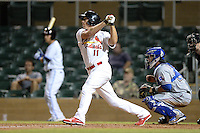 Salt River Rafters outfielder Stephen Piscotty (11), of the St. Louis Cardinals organization, during an Arizona Fall League game against the Surprise Saguaros on October 15, 2013 at Salt River Fields at Talking Stick in Scottsdale, Arizona.  Surprise defeated Salt River 9-2.  (Mike Janes/Four Seam Images)