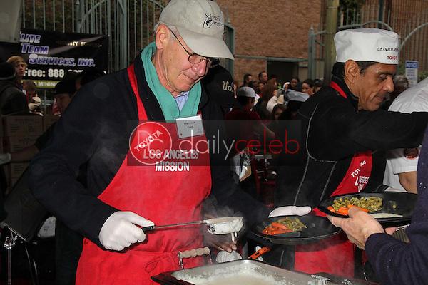 Harrison Ford, Antonio Villaraigosa<br /> at the Los Angeles Mission Christmas Eve For The Homeless, Los Angeles Mission, Los Angeles, CA 12-24-12<br /> David Edwards/DailyCeleb.com 818-249-4998