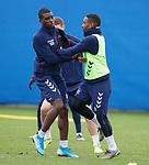 19.12.2019 Rangers training: Sheyi Ojo and Jermain Defoe