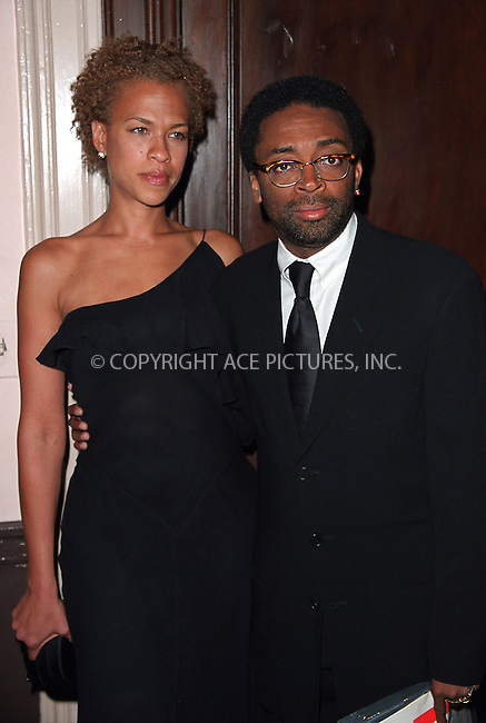 Spike Lee and his wife arrive at Waldorf-Astoria for the 3rd Annual Directors Guild of America Awards. New York, June 9, 2002. Please byline: Alecsey Boldeskul/NY Photo Press.   ..*PAY-PER-USE*      ....NY Photo Press:  ..phone (646) 267-6913;   ..e-mail: info@nyphotopress.com