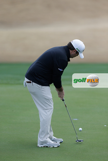 Jonathan Randolph (USA) takes his putt on the 17th green during Thursday's Round 1 of the 2017 CareerBuilder Challenge held at PGA West, La Quinta, Palm Springs, California, USA.<br /> 19th January 2017.<br /> Picture: Eoin Clarke | Golffile<br /> <br /> <br /> All photos usage must carry mandatory copyright credit (&copy; Golffile | Eoin Clarke)