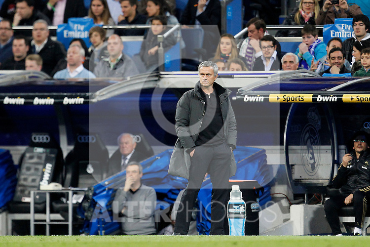 Real Madrid's Jose Mourinho during la Liga match on april 8th 2012. ..Photo: Cesar Cebolla / ALFAQUI