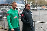 17.01.2020, Trainingsgelaende am wohninvest WESERSTADION,, Bremen, GER, 1.FBL, Werder Bremen Training ,<br /> <br /> <br />  im Bild<br /> <br /> Kevin Vogt (Werder Bremen Neuzugang #03)<br /> Thomas Horsch (Co-Trainer SV Werder Bremen)<br /> <br /> Foto © nordphoto / Kokenge