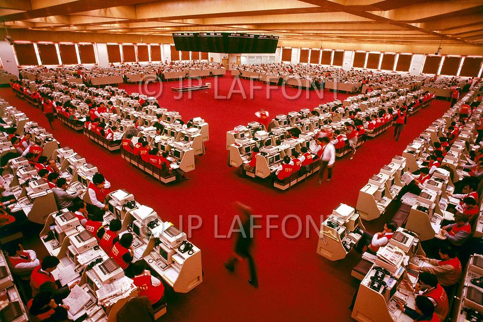 1988, Hong Kong Island, Hong Kong, China --- Hong Kong Stock Exchange --- Image by © JP Laffont