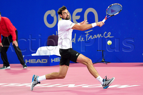 February 6th 2017, Montpellier, France; Open Sud de France tennis tournament;  Jeremy Chardy (Fra)