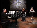 Michael Holohan performing with Hannah O'Brien soprano and Rebecca Draisley-Collishaw Oboe at the night of Ledwidge music and poems held in the Droichead Arts Centre.  Photo:Colin Bell/pressphotos.ie