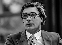 Jim Mitchell, TD Fine Gael, Rep of Ireland, Minister for Transport &amp; Posts and Telegraphs, October, 1982, 198210000327<br /> <br /> Copyright Image from Victor Patterson, 54 Dorchester Park, <br /> Belfast, UK, BT9 6RJ<br /> <br /> t1: +44 28 9066 1296 (from Rep of Ireland 048 9066 1296)<br /> t2: +44 28 9002 2446 (from Rep of Ireland 048 9002 2446)<br /> m: +44 7802 353836<br /> <br /> victorpatterson@me.com<br /> www.victorpatterson.com<br /> <br /> Please see my Terms and Conditions of Use at VICTORPATTERSON.COM. It is IMPORTANT that you familiarise yourself with them.<br /> <br /> Images used on the Internet must be visibly watermarked i.e. &copy;VICTORPATTERSON.COM within the body of the image and copyright metadata must not be deleted. Images used on the Internet have a size restriction of 4kbs and are chargeable at the then current NUJ rates.<br /> <br /> This image is only available for the use of the download recipient i.e. television station, newspaper, magazine, book publisher, etc, and must not be passed on to any third party. It is also downloaded on condition that each and every usage is notified within 7 days to victorpatterson@me.com<br /> <br /> The right of Victor Patterson to be identified as the author is asserted in accordance with The Copyright Designs And Patents Act (1988).