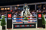 Christian Kukuk of Germany riding Cordess competes in the Longines Speed Challenge during the Longines Masters of Hong Kong at AsiaWorld-Expo on 10 February 2018, in Hong Kong, Hong Kong. Photo by Diego Gonzalez / Power Sport Images