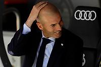 Zinedine Zidane coach of Real Madrid during La Liga match between Real Madrid and Granada CF at Santiago Bernabeu Stadium in Madrid, Spain. October 05, 2019. (ALTERPHOTOS/A. Perez Meca)<br /> Liga Spagna 2019/2020 <br /> Real Madrid - Grenada <br /> Foto Alterphotos / Insidefoto <br /> ITALY ONLY
