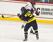 Jace Hennig (Merrimack - 9), Casey Fitzgerald (BC - 5) - The visiting Merrimack College Warriors defeated the Boston College Eagles 6 - 3 (EN) on Friday, February 10, 2017, at Kelley Rink in Conte Forum in Chestnut Hill, Massachusetts.