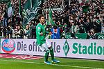 02.11.2019, wohninvest WESERSTADION, Bremen, GER, 1.FBL, Werder Bremen vs SC Freiburg<br /> <br /> DFL REGULATIONS PROHIBIT ANY USE OF PHOTOGRAPHS AS IMAGE SEQUENCES AND/OR QUASI-VIDEO.<br /> <br /> im Bild / picture shows<br /> Jubel 2:1, <br /> Theodor Gebre Selassie (Werder Bremen #23) bejubelt seinen Treffer zum 2:1 per Kopfball vor Fans, <br /> <br /> Foto © nordphoto / Ewert