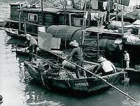 Boote in Aberdeen, Hongkong 1977