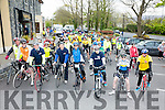 At the Start of the Fenit Lifeboat charity fun cycle from O'Donnells, Mounthawk on Saturday