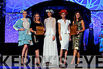 Rose of Tralee Fashion Designer Awards winners were Catherine Kelly from Glenbeigh, a student whose collection was inspired by fairy forts and Tralee milliner Carol Kennelly pictured with models at the Rose of Tralee fashion show in the Dome on Sunday night.