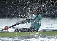 PUTNEY, LONDON, ENGLAND, 05.03.2006, Pre 2006 Boat Race Fixtures,.   © Peter Spurrier/Intersport-images.com..CUBC,  stroke Kip McDaniel [Mandatory Credit Peter Spurrier/ Intersport Images] Varsity Boat Race, Rowing Course: River Thames, Championship course, Putney to Mortlake 4.25 Miles