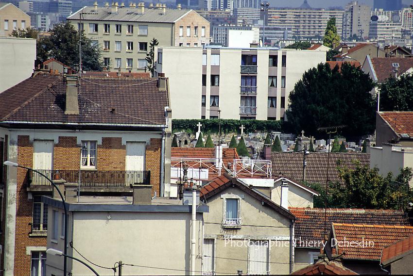 1995-1999; Issy Les Moulineaux; Les Epinettes - Le Fort; Depuis l'Hopital Percy