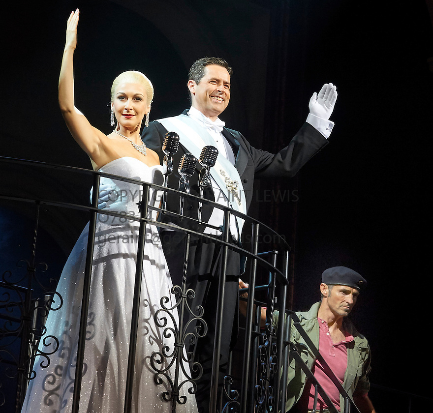 Evita . Music by Andrew Lloyd Webber, Lyrics by Tim Rice . With Madalena Alberto as Evita, Matthew Cammelle as Peron, Marti Pellow as Che. Opens at The Dominion Theatre on 22/9/14. CREDIT Geraint Lewis