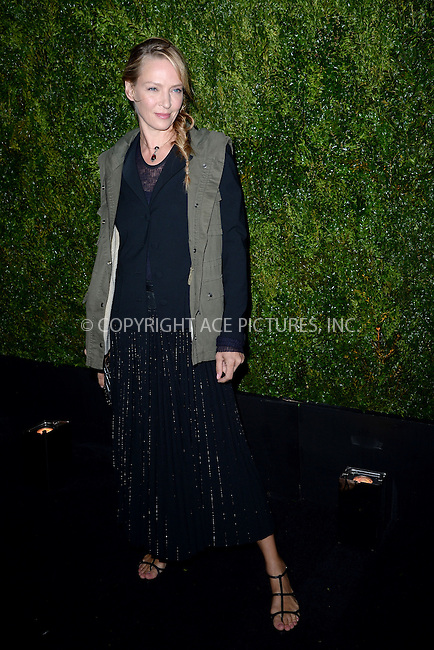 WWW.ACEPIXS.COM<br /> April 20, 2015 New York City<br /> <br /> <br /> Uma Thurman attending the 2015 Tribeca Film Festival CHANEL Artists Dinner at Balthazer on April 20, 2015 in New York City.<br /> <br /> Please byline: Kristin Callahan/AcePictures<br /> <br /> ACEPIXS.COM<br /> <br /> Tel: (646) 769 0430<br /> e-mail: info@acepixs.com<br /> web: http://www.acepixs.com