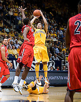 Justin Cobbs of California shoots the ball during the game against Arizona at Haas Pavilion in Berkeley, California on February 2nd, 2012.  Arizona defeated California, 78-74.