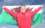 Glasgow 2014 Commonwealth Games<br /> <br /> Welsh gymnast Frankie Jones holding the Welsh flag she will carry when she leads out Team Wales at the opening ceremony in Celtic Park.<br /> <br /> 22.07.14<br /> ©Steve Pope-SPORTINGWALES