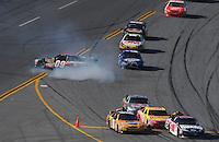 Apr 26, 2009; Talladega, AL, USA; NASCAR Sprint Cup Series driver Brad Keselowski celebrates after winning the Aarons 499 at Talladega Superspeedway. Mandatory Credit: Mark J. Rebilas-
