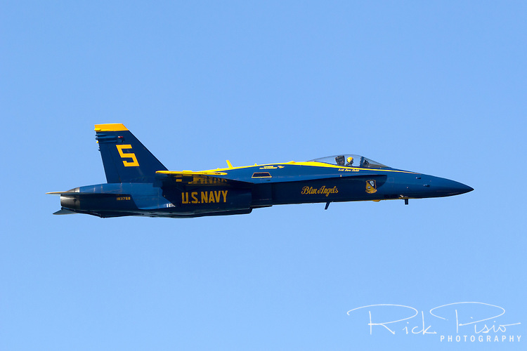 Blue Angels solo aircraft in flight