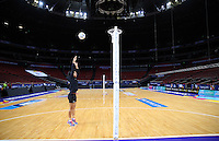 04.08.2015 Silver Ferns Malia Paseka during Silver Ferns training ahead of the 2015 Netball World Champs at All Phones Arena in Sydney, Australia. Mandatory Photo Credit ©Michael Bradley.