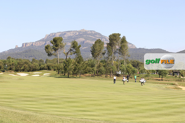 Looking up the 2nd fairway during Round 2 of the Open de Espana  in Club de Golf el Prat, Barcelona on Friday 15th May 2015.<br /> Picture:  Thos Caffrey / www.golffile.ie