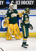 Rob Madore (Vermont - 29), Josh Burrows (Vermont - 22) - The University of Vermont Catamounts defeated the Yale University Bulldogs 4-1 in their NCAA East Regional Semi-Final match on Friday, March 27, 2009, at the Bridgeport Arena at Harbor Yard in Bridgeport, Connecticut.