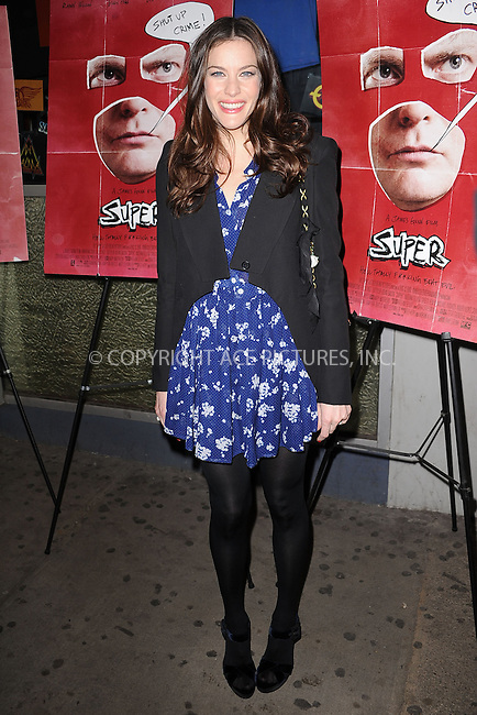 "WWW.ACEPIXS.COM . . . . . .March 30, 2011...New York City...Liv Tyler attends the ""Super"" New York Screening at the IFC Center on  March 30, 2011 in New York City....Please byline: KRISTIN CALLAHAN - ACEPIXS.COM.. . . . . . ..Ace Pictures, Inc: ..tel: (212) 243 8787 or (646) 769 0430..e-mail: info@acepixs.com..web: http://www.acepixs.com ."