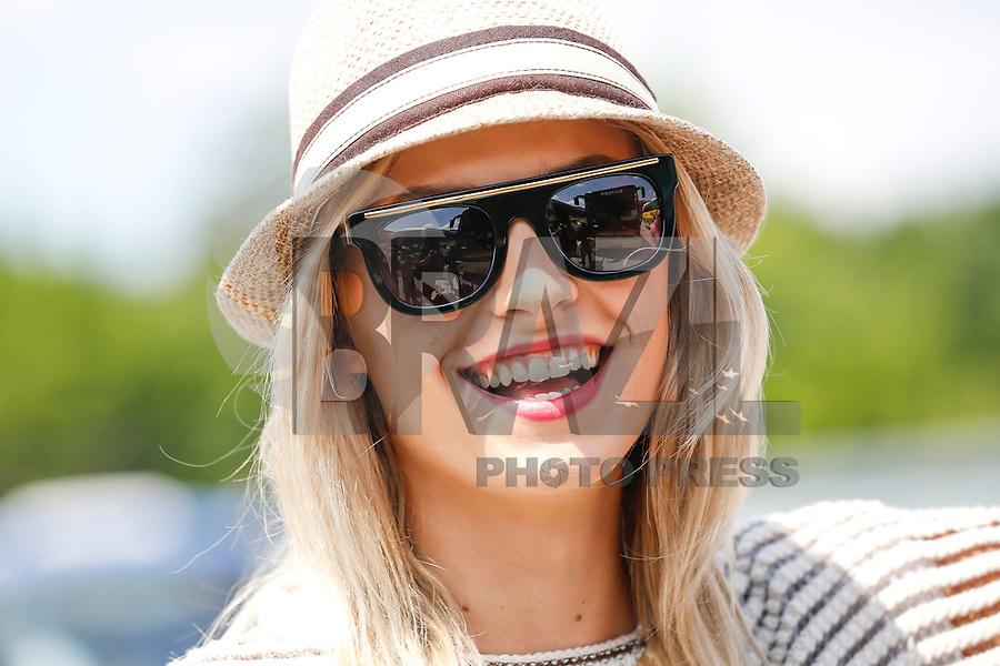 LVIV, UCRANIA, 09 JUNHO 2012 - EURO 2012 - A modelo Lena Gehrke namorada do jogador Samy Khedira da selecao alema e vista na cidade Lviv na Ucrania neste sabado dia 09. (FOTO: PIXATHLON / BRAZIL PHOTO PRESS).