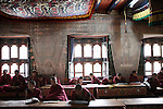 Upstairs, seven university students listen intent lesson of astrology.<br />