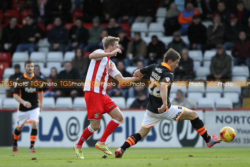 David Wheeler of Exeter City wins the ball - Stevenage vs Exeter City - Sky Bet League Two Football at the Lamex Stadium, Broadhall Way, Stevenage, Hertfordshire - 20/12/14 - MANDATORY CREDIT: Mick Kearns/TGSPHOTO - Self billing applies where appropriate - contact@tgsphoto.co.uk - NO UNPAID USE