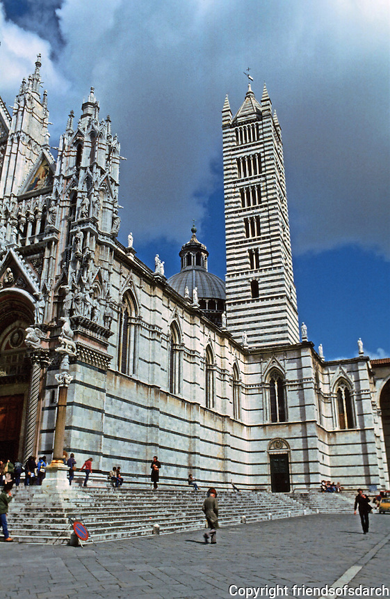 Siena:  Duomo and Campanile.  Photo '83.