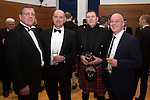 St Johnstone FC Scottish Cup Celebration Dinner at Perth Concert Hall...01.02.15<br /> Pictured from leftm Roddy Grant, Charlie Fraser, John McDougall and Paul Smith<br /> Picture by Graeme Hart.<br /> Copyright Perthshire Picture Agency<br /> Tel: 01738 623350  Mobile: 07990 594431