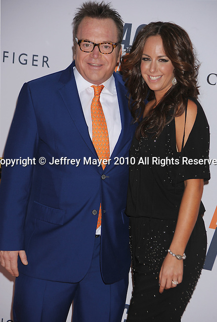 CENTURY CITY, CA. - May 07: Tom Arnold and Ashley Groussman arrive to the 17th Annual Race To Erase MS held at Hyatt Regency Century Plaza on May 7, 2010 in Century City, California.