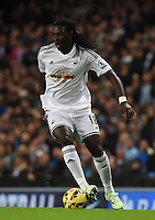 Picture by Howard Roe/AHPIX.com. Football, Barclays Premier League; <br /> Manchester City v Swansea City ;22/11/2014 KO 3.00 pm <br /> Etihad Stadium;<br /> copyright picture;Howard Roe;07973 739229<br /> Swansea's                   Bafetimbi Gomis