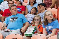 Houston, TX - Saturday August 24, 2019: NWSL regular season match between the Houston Dash and Sky Blue FC at BBVA Stadium.