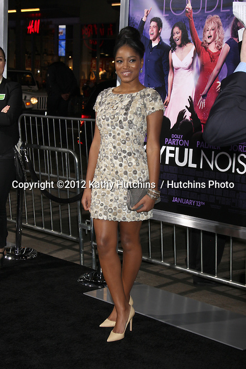 "LOS ANGELES - JAN 9:  Keke Palmer arrives at the""Joyful Noise"" Premiere at Graumans Chinese Theater on January 9, 2012 in Los Angeles, CA"