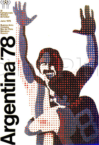 1978  The official poster for the world cup 1978 football final between Argentina and Holland in BuenAires.