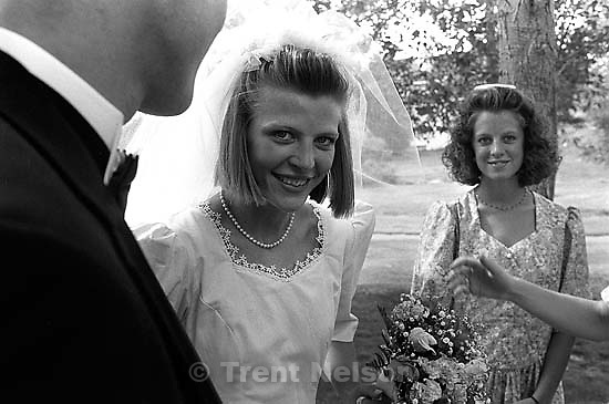 Laura Nelson, Pat Quayle before Trent &amp; Laura's wedding.<br />